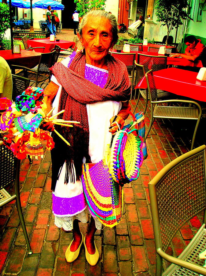 Ethnic Photography Photograph - At The Market by Johanna Elik
