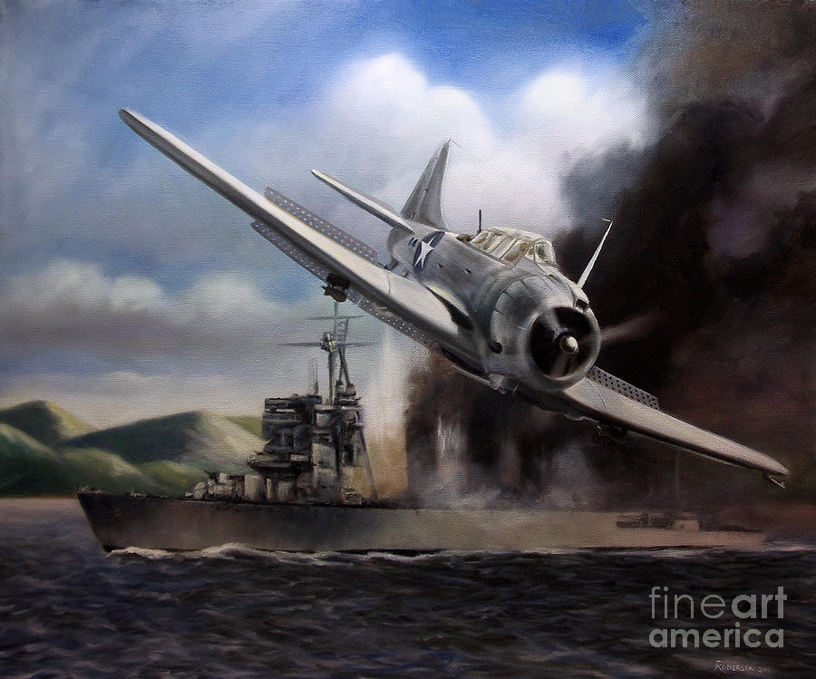 Sbd Painting - Attack On The Yura by Stephen Roberson