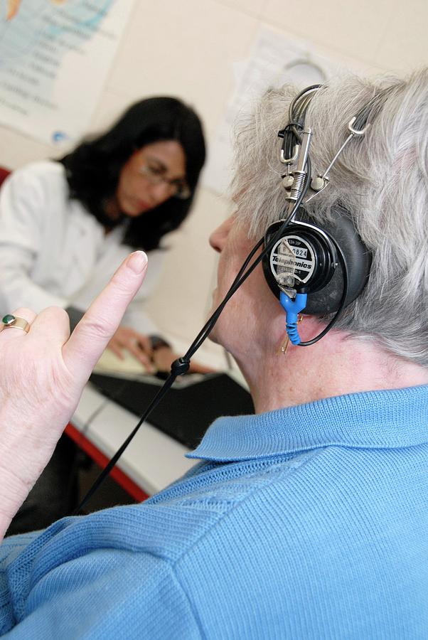 Human Photograph - Audiometry Test by Aj Photo/science Photo Library