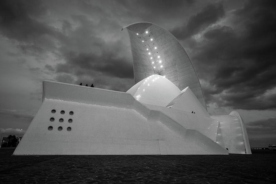 Horizontal Photograph - Auditorium At Dusk, Auditorio De by Panoramic Images