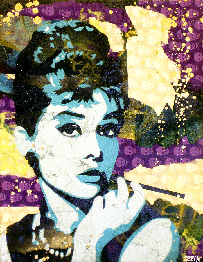 Audrey Hepburn Painting - Audrey All Day by Bobby Zeik