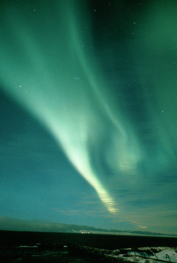 Earth Science Photograph - Aurora Borealis Display Seen From Northern Norway by Pekka Parviainen/science Photo Library
