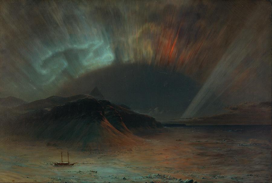 Aurora Borealis Painting