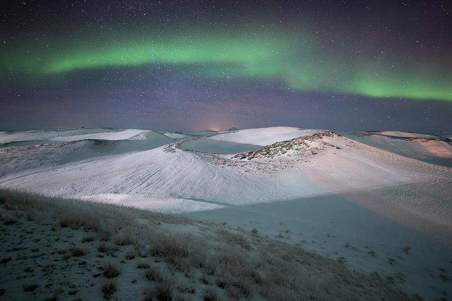 Aurora, Myvatn, Iceland Photograph by David Clapp