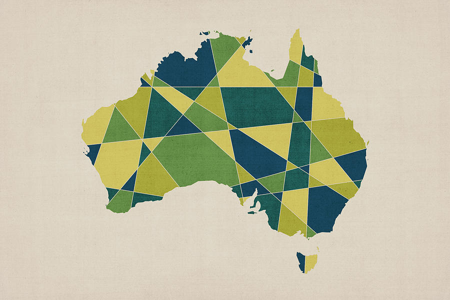 Australia geometric retro map digital art by michael tompsett australia map digital art australia geometric retro map by michael tompsett gumiabroncs Image collections