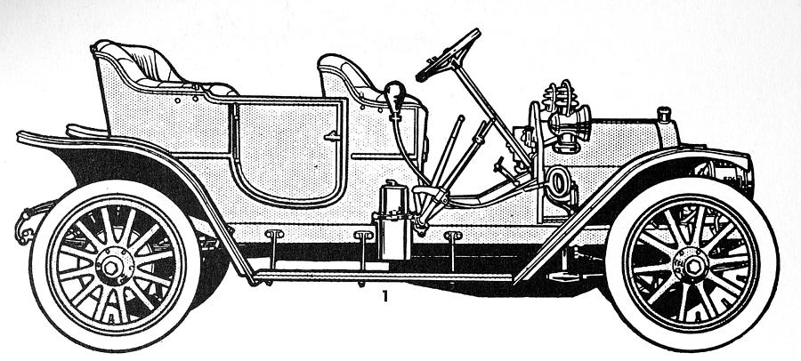 1905 Drawing - Automobile, C1905 by Granger