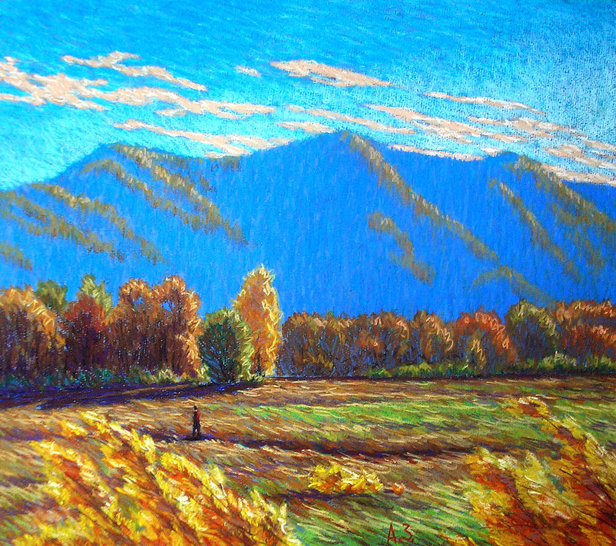 Graphic Arts Pastel - Autumn by Aleksey Zuev
