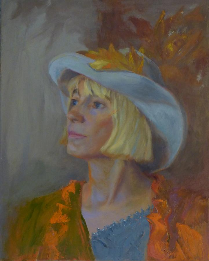 Portrait Photograph - Autumn Begins by Irena  Jablonski