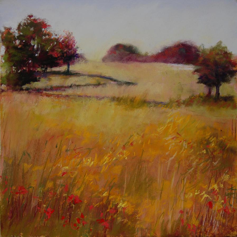 Autumn Field Pastel by Jeanne Rosier Smith