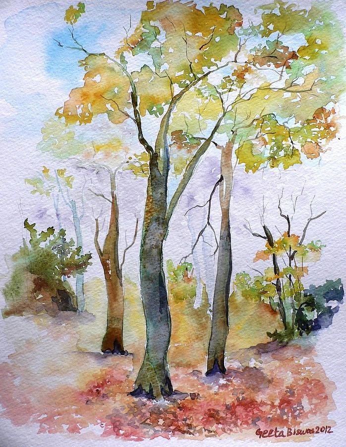 Autumn Painting - Autumn by Geeta Biswas