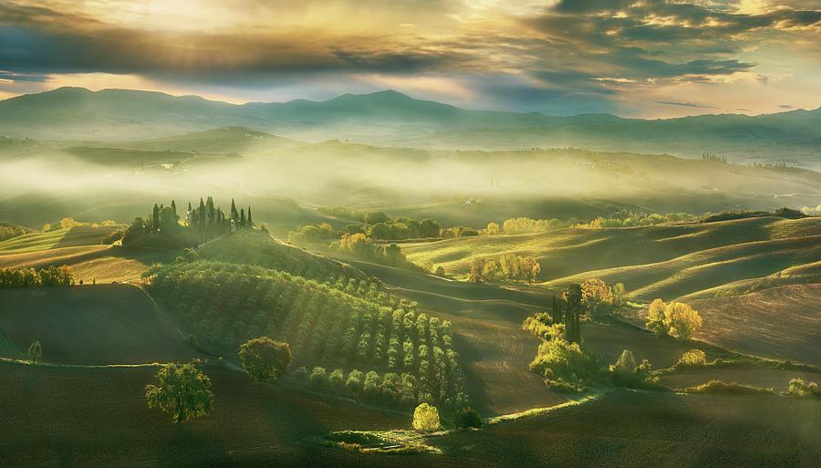 Panorama Photograph - Autumn... by Krzysztof Browko