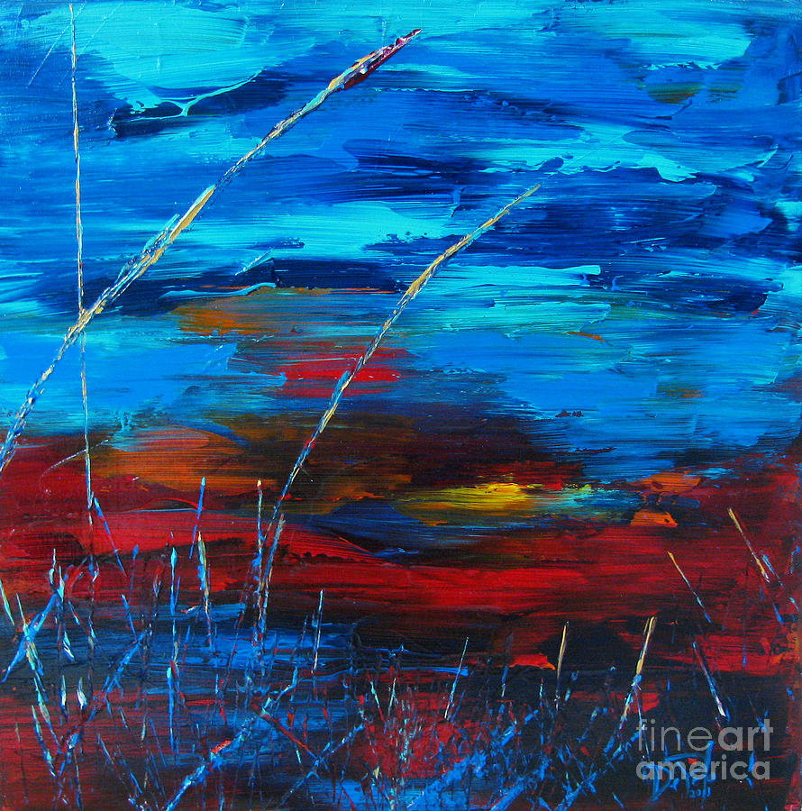 Abstract Painting - Awaken by JoAnn DePolo