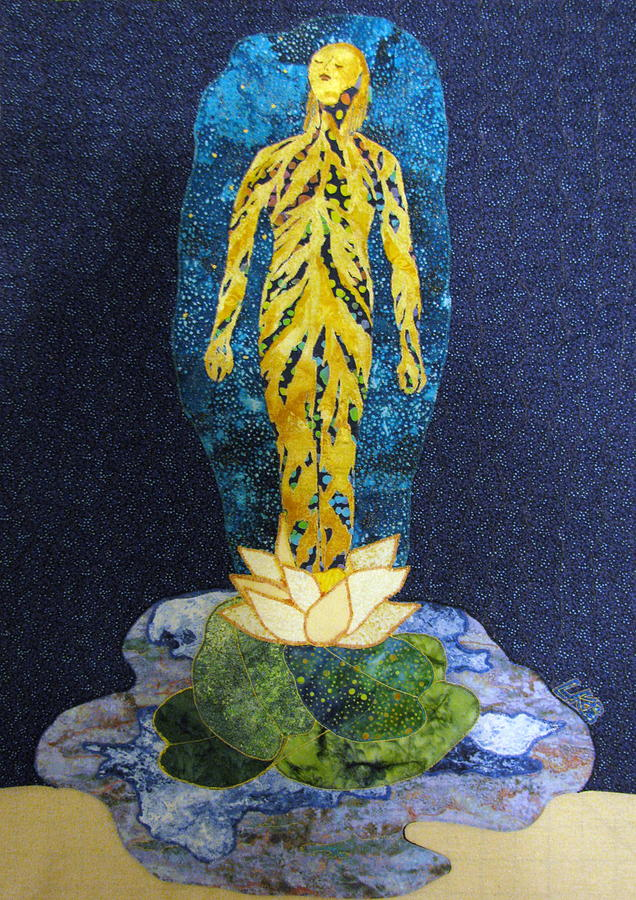 Waterlilies Tapestry - Textile - Awakening by Lynda K Boardman