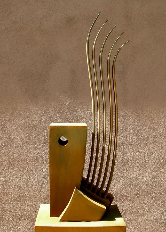 Outdoor Sculpture - Awe At The Wind And Waves  by Robert Hartl