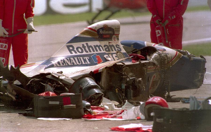Ayrton Senna Crash Photograph by Anton Want