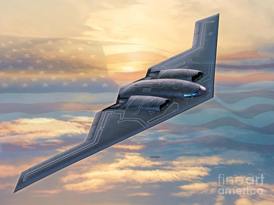 B-2 Digital Art - B-2 Spirit by Stu Shepherd
