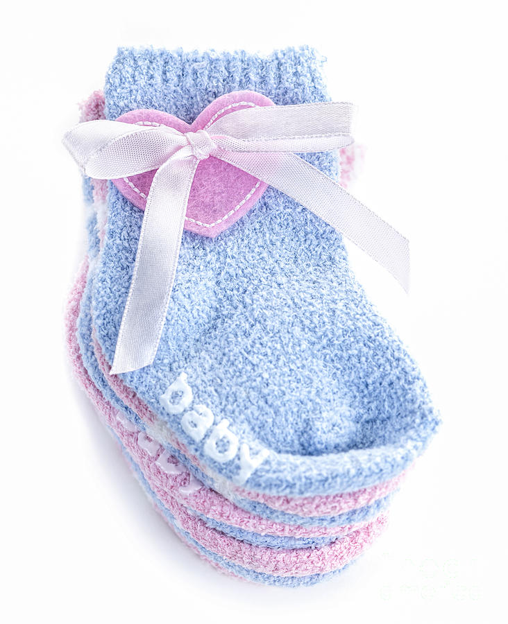 Socks Photograph - Baby Socks by Elena Elisseeva