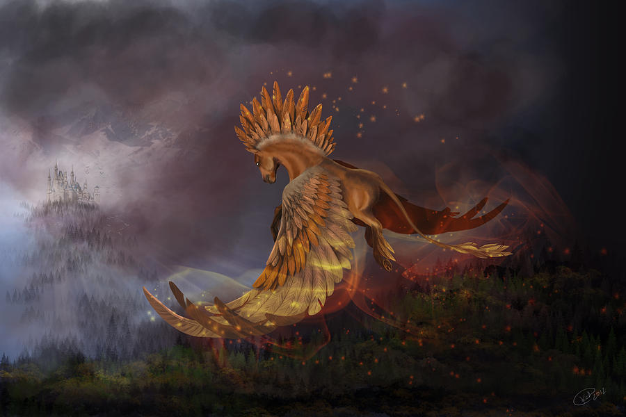 Fantasy Digital Art - Back From The Nightmare by Kate Black