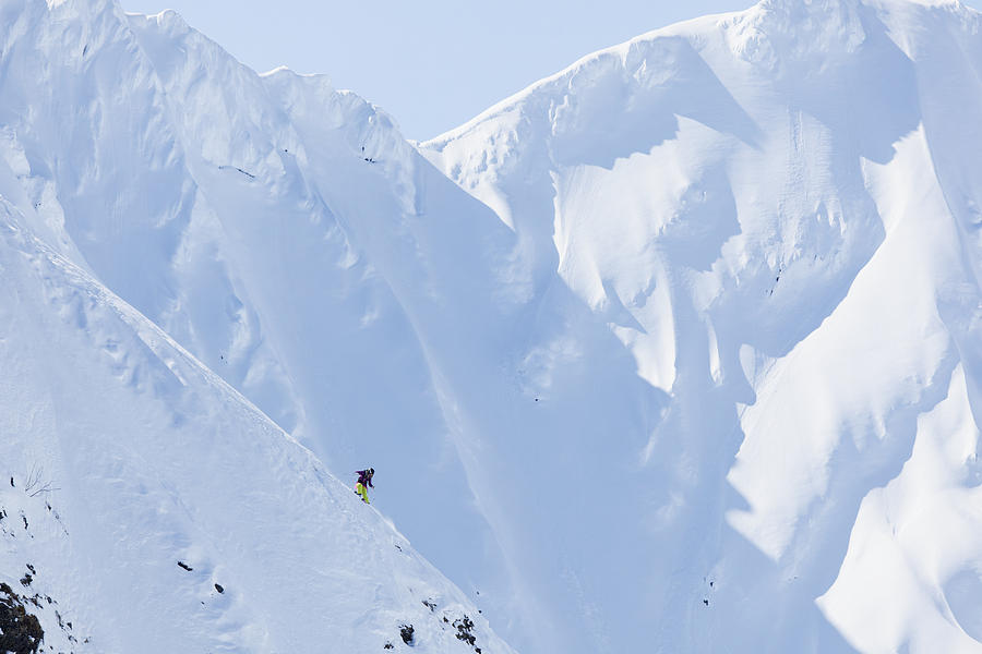 Winter Photograph - Backcountry Skiing In The Chugach by Scott Dickerson