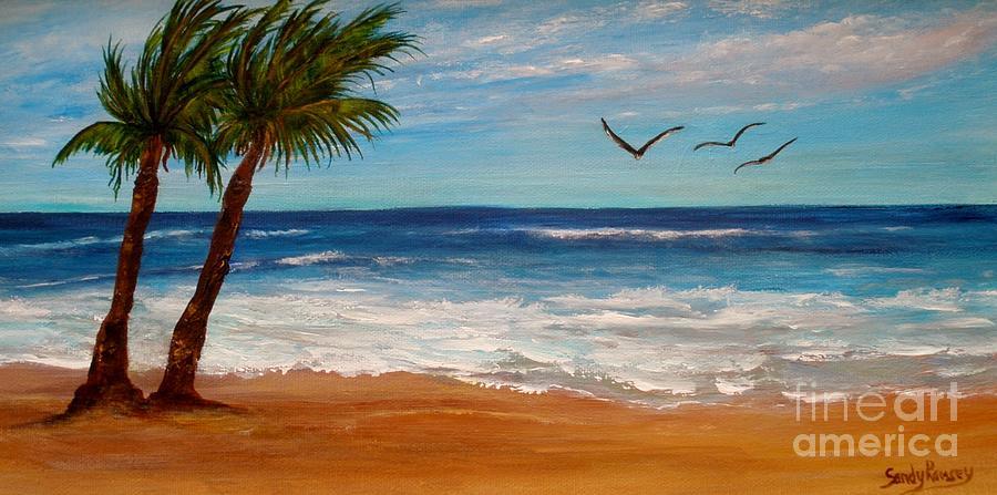 Beach Painting - Bahama Breeze by Sandra Ramsey