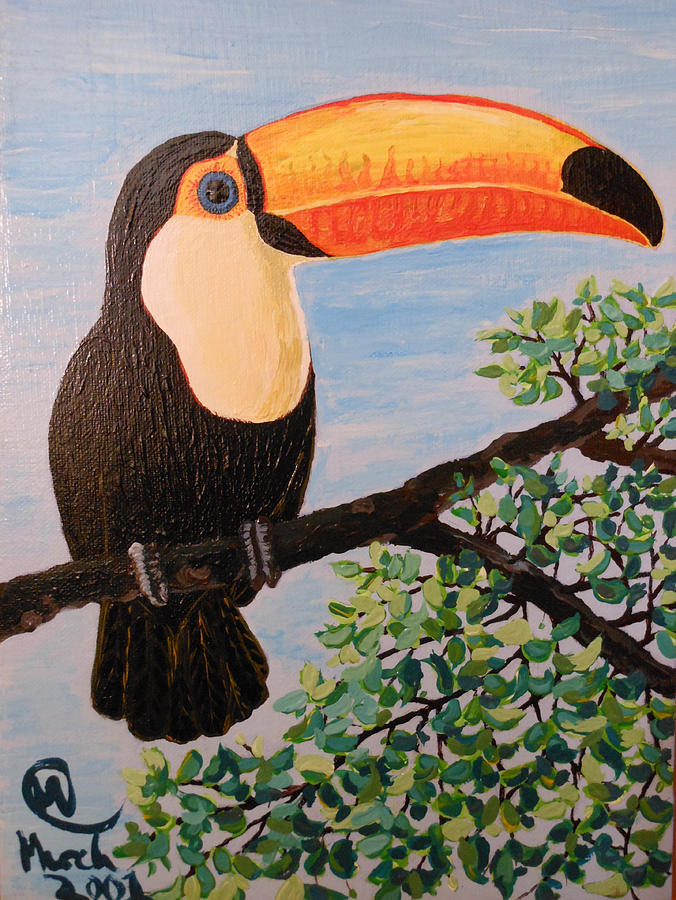 Toucan Painting - Balance That Beak by Martha Cervantes