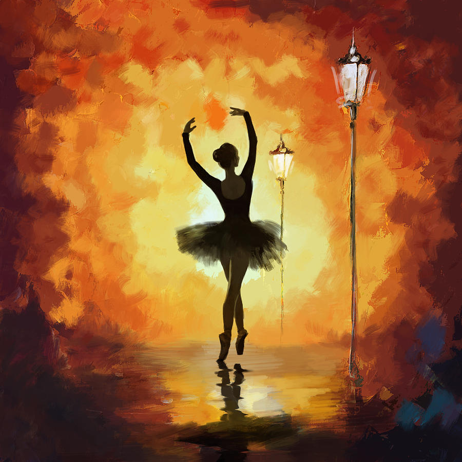 Ballet Dancer Painting By Corporate Art Task Force