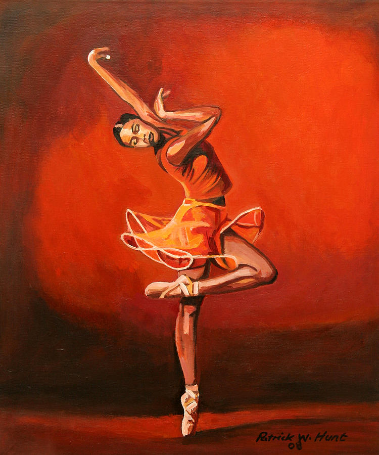 Ballet Dancer Painting - Ballet Lady by Patrick Hunt