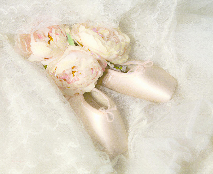 Shabby Chic Prints Photograph - Ballet Shoes by Theresa Tahara
