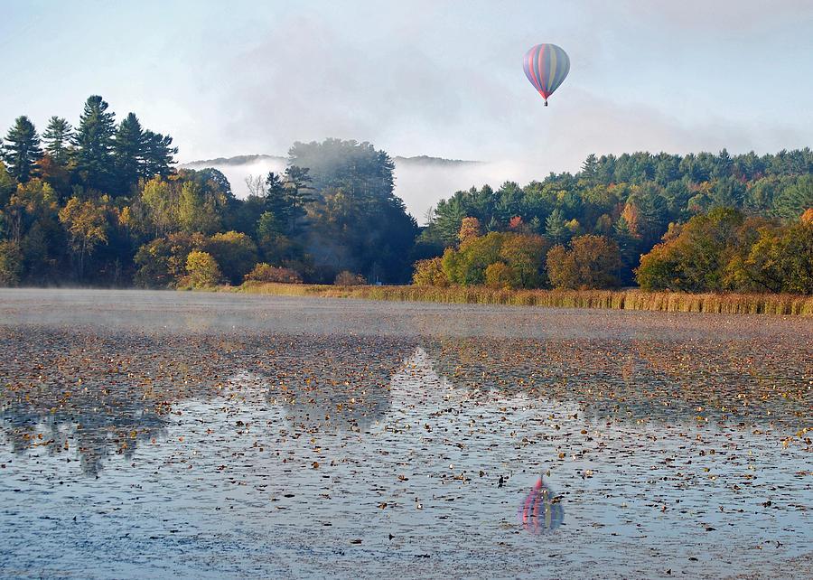 Balloon Rise At Dawn Photograph by Gloria Merritt