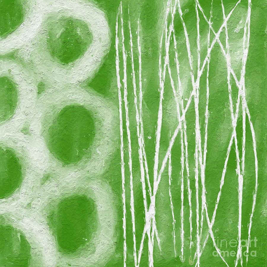 Abstract Painting - Bamboo by Linda Woods