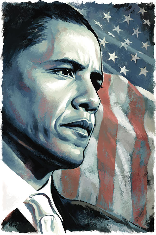 President Of The United States Painting - Barack Obama Artwork 2 by Sheraz A