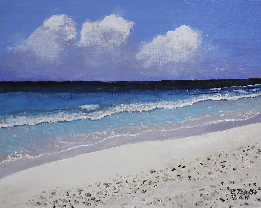 Beach Painting - Barbados Beach by Ethan Altshuler