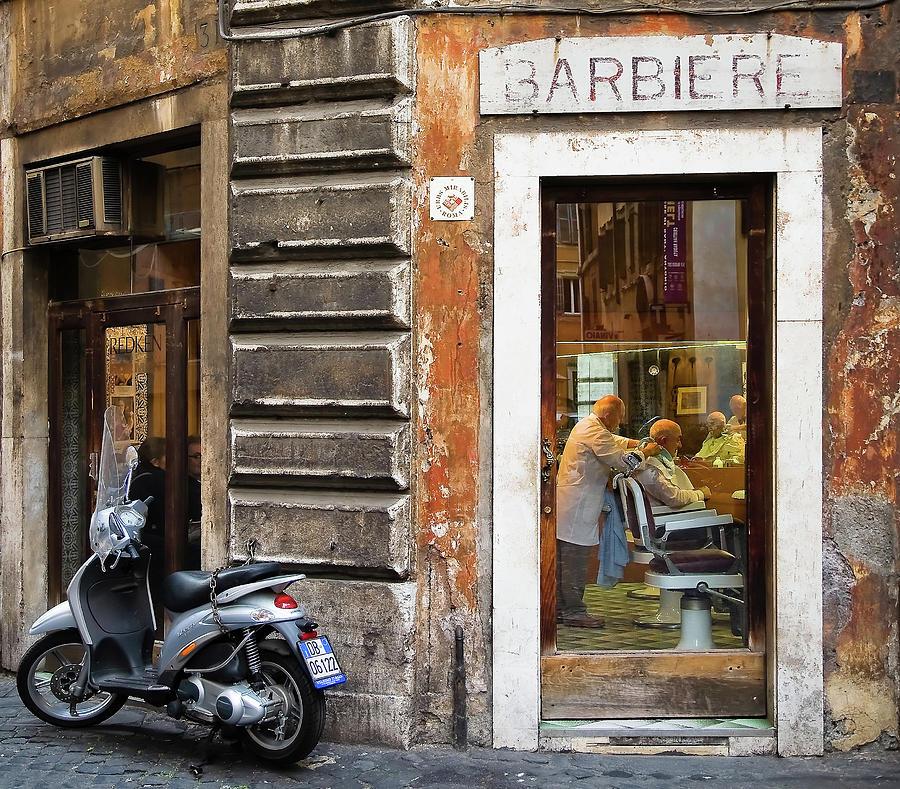 Rome Photograph - Barbiere by Stefan Nielsen