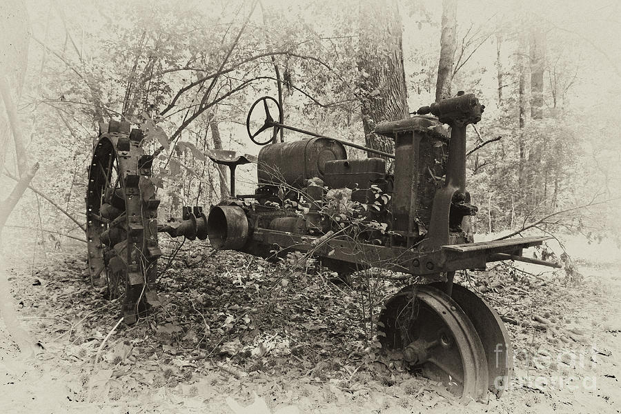 Tractor Photograph - Barksdale Tractor by Russell Christie