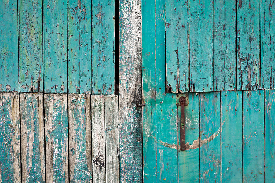 Abandoned Photograph - Barn Door by Tom Gowanlock