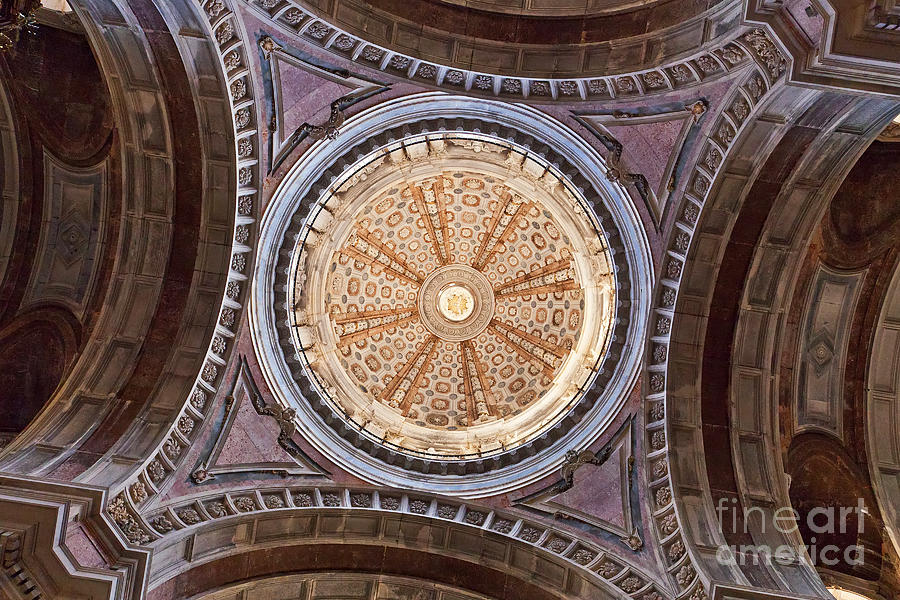Lantern Photograph - Baroque Church Cupola Dome by Jose Elias - Sofia Pereira