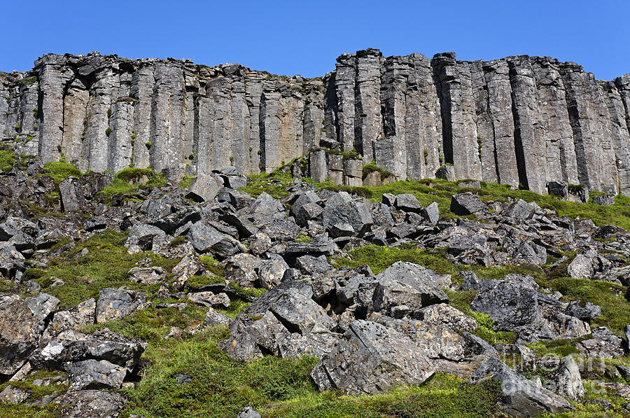 Basalt Columns Iceland : Basalt columns at gerduberg snaefellsnes peninsula in