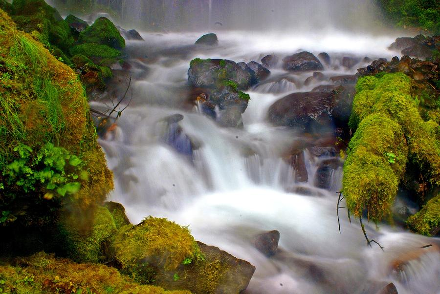 Waterfall Photograph - Base Of The Falls by Marty Koch