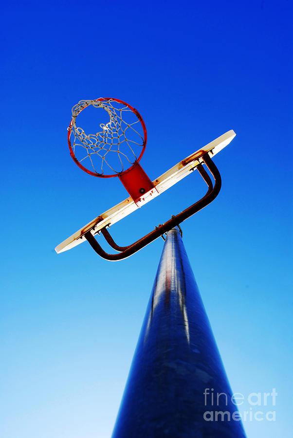 Rules Photograph - Basketball Hoop by Lane Erickson