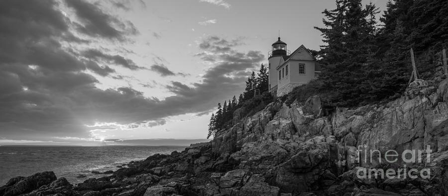 Bass Harbor Head Lighthouse Photograph - Bass Harbor Head Light Sunset  by Michael Ver Sprill