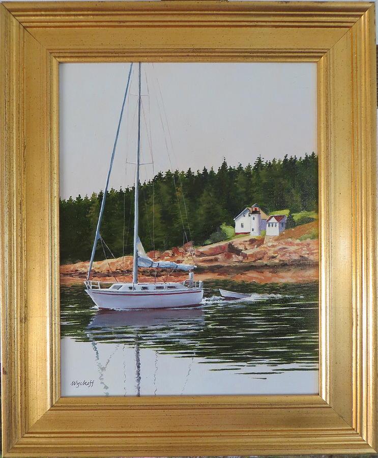 Bass Harbor Light Painting by Karol Wyckoff