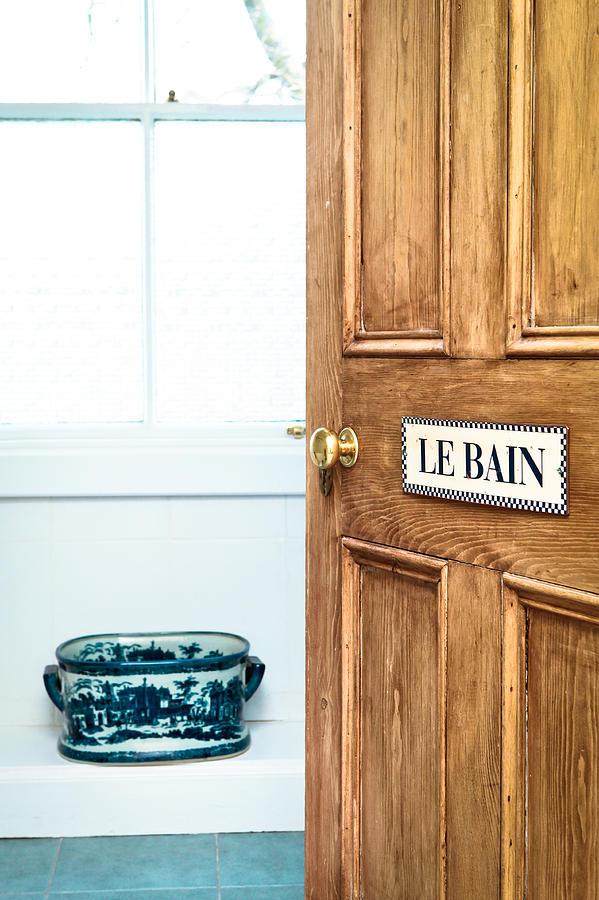 Apartment Photograph - Bathroom Door by Tom Gowanlock