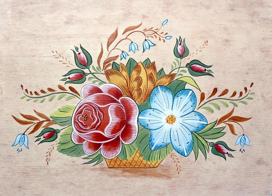 Bavarian Floral  Painting by Brenda Ruark