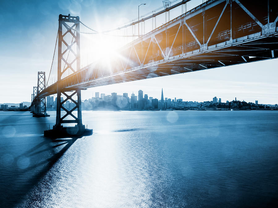 Bay Bridge And Skyline Of San Francisco Photograph by Chinaface