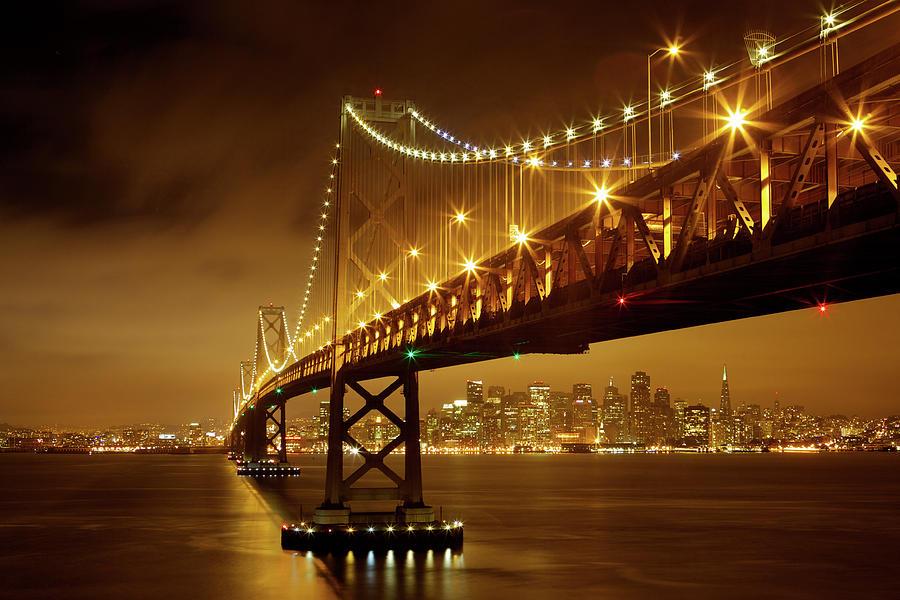 Bay Bridge Photograph by Evgeny Vasenev