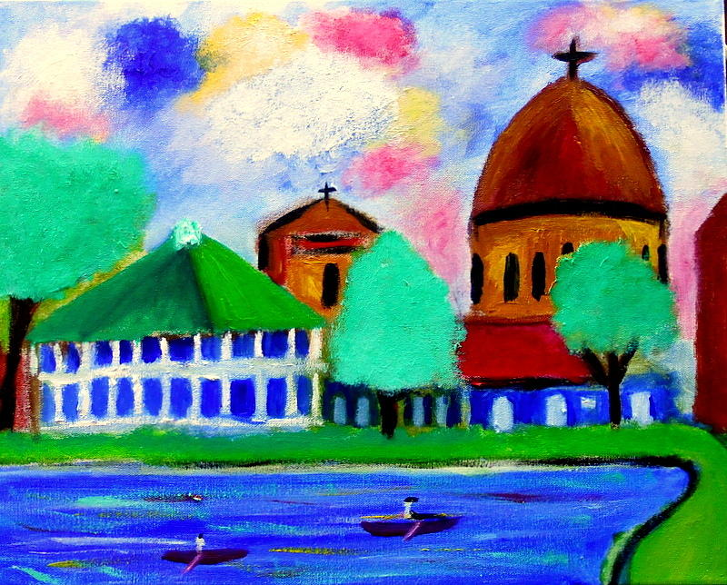 Bayou St John New Orleans Painting by Ted Hebbler