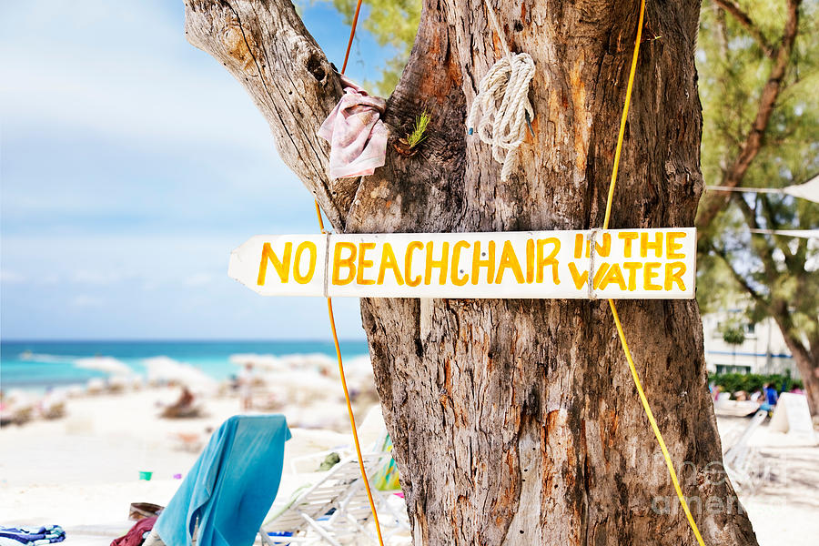 Sign Photograph - Beach At Rum Point by Jo Ann Snover