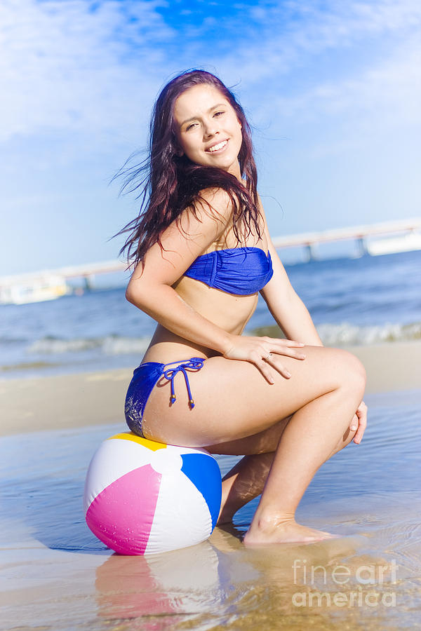 Beach Ball Bikini Babe