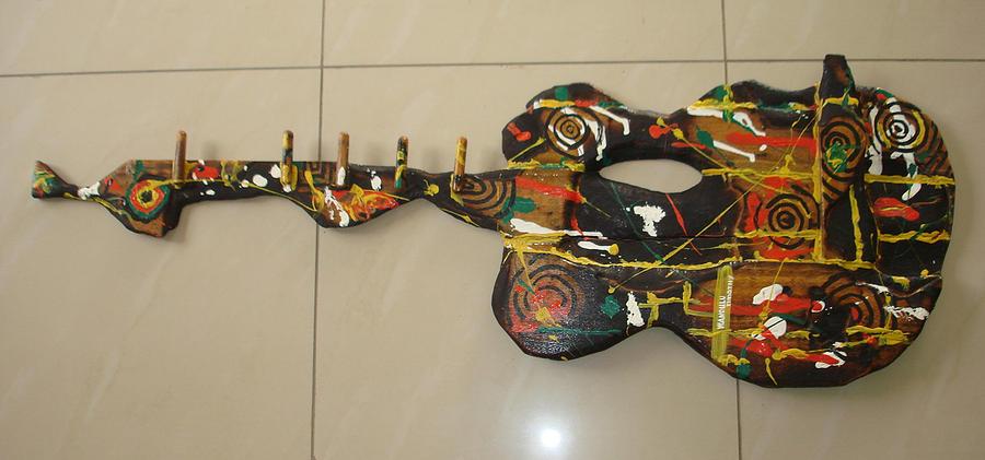 Beautiful Guitar Sculpture by Wandulu TIMOTHY