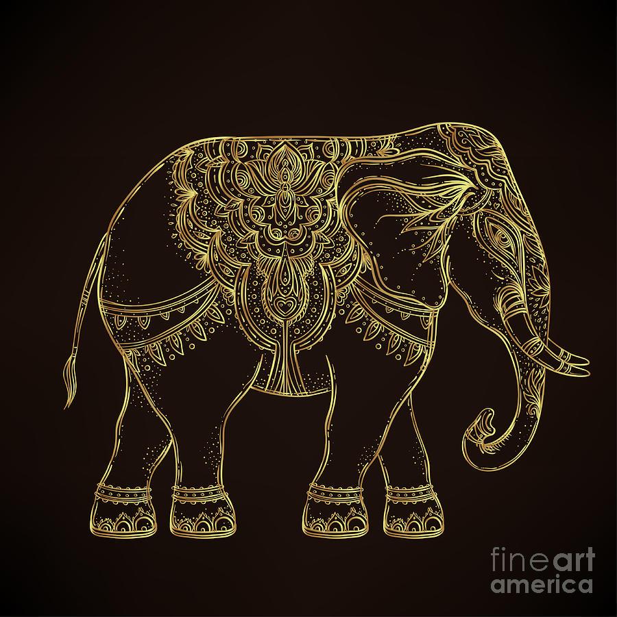 Symbol Digital Art - Beautiful Hand-drawn Tribal Style by Gorbash Varvara
